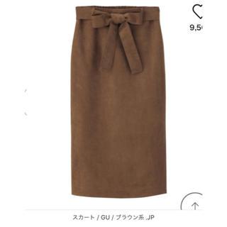 ジーユー(GU)のGU ベロアスカート(ひざ丈スカート)