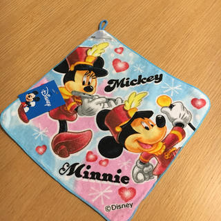 ディズニー(Disney)のディズニー ミッキー&ミニーのヒモ付きハンカチ(その他)