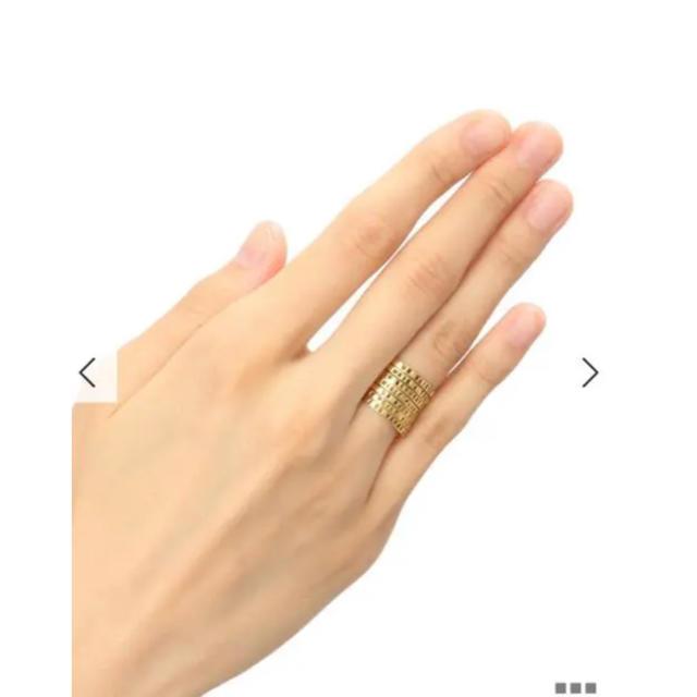 H.P.FRANCE(アッシュペーフランス)のSerge Thoraval セルジュトラヴァル  接吻  7連ゴールドリング  レディースのアクセサリー(リング(指輪))の商品写真
