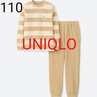 ユニクロ(UNIQLO)の新品★ユニクロ 110★ディズニー フリースセット、パジャマ★プーさん柄(パジャマ)