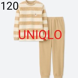 ユニクロ(UNIQLO)の新品★ユニクロ 120★ディズニー フリースセット、パジャマ★プーさん柄(パジャマ)