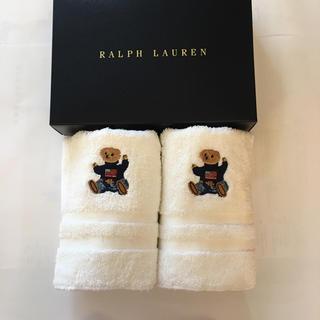 Ralph Lauren - [新品]タイムセール!ラルフローレン  ウォッシュタオル 2枚セット ベア柄