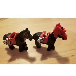 レゴ(Lego)のレゴ 馬2頭(盾付き)(積み木/ブロック)