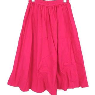 ジーユー(GU)のスカート ピンク GU ワンポイント(ひざ丈スカート)