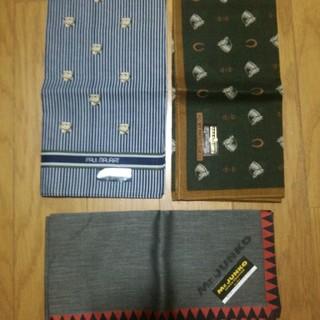 【新品未使用】メンズハンカチ 3枚(ハンカチ/ポケットチーフ)