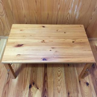 ムジルシリョウヒン(MUJI (無印良品))の無印 折りたたみテーブル パイン材(ローテーブル)