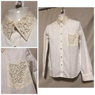 アンリアレイジ(ANREALAGE)のANREALAGE アンリアレイジ  ホワイトシャツ 1 S (シャツ)