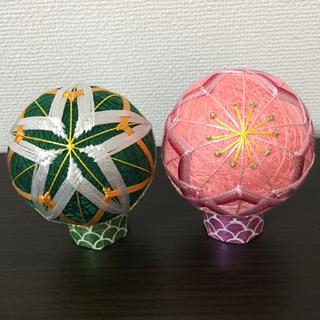 2019-8☆ひな祭り☆お雛様☆橘、桜の花イメージ☆ 2個セット(インテリア雑貨)