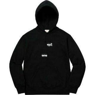 シュプリーム(Supreme)の新品 Split Box Logo Hooded Sweatshirt 黒 S(パーカー)