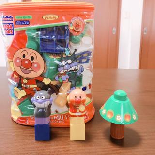 アンパンマン(アンパンマン)のアンパンマン50ブロックバッグ+別売り人形(4体)(積み木/ブロック)