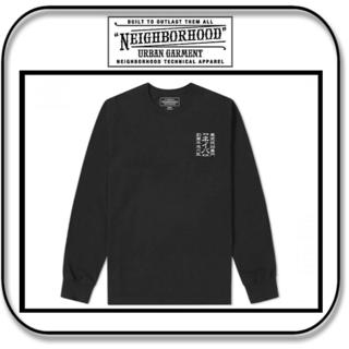 ネイバーフッド(NEIGHBORHOOD)のネイバーフッド 長袖 漢字ロゴ「ネイバ」Tシャツ ブラック M(Tシャツ/カットソー(七分/長袖))