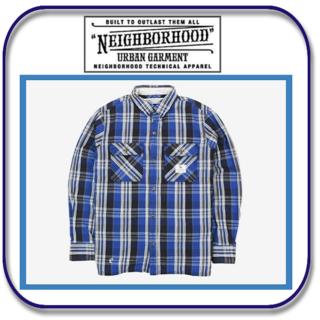 ネイバーフッド(NEIGHBORHOOD)のネイバーフッド ブルー系チェック柄 コットンシャツ S(シャツ)