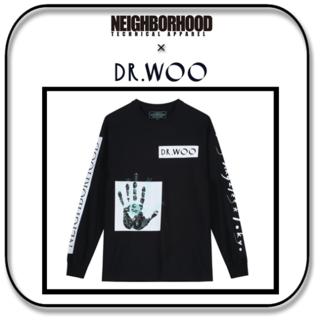 ネイバーフッド(NEIGHBORHOOD)のネイバーフッド x ドクターウー  Dr.Woo  C-TEE  ブラック M(Tシャツ/カットソー(七分/長袖))
