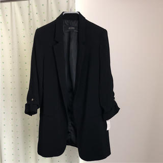 ザラ(ZARA)の新品 ZARA ジャケット 黒(テーラードジャケット)