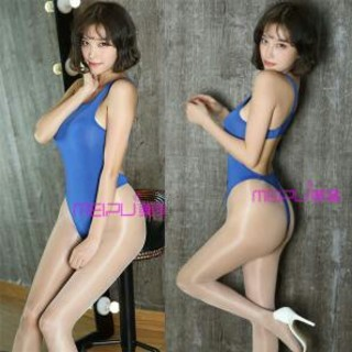 格安! 超セクシーハイレグレオタード ブルーコスプレ衣装(極薄)M〜フリーサイズ(衣装)