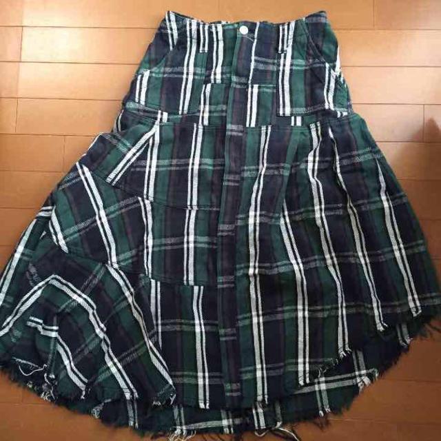 AGAINST(アゲインスト)のチェックマーメイドマキシスカート レディースのスカート(ロングスカート)の商品写真