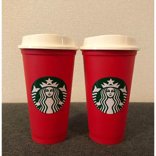スターバックスコーヒー(Starbucks Coffee)の日本未発売☆スタバ リユーザブルカップ 赤 2個セット♪(タンブラー)