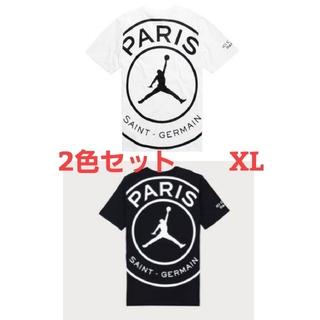 ナイキ(NIKE)の新品 PSG ジョーダン Tシャツ 2色セット USXLサイズ(Tシャツ/カットソー(半袖/袖なし))
