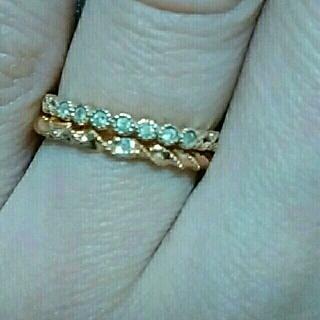アガット(agete)の梱包済♧最終値下げ☆agete K10 ダイヤモンドリング(リング(指輪))