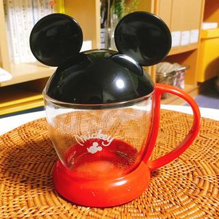 Disney - ★お子さんにオススメ★ミッキーの耳型のフタが可愛いマグカップ