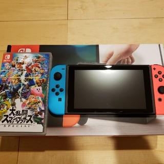ニンテンドースイッチ(Nintendo Switch)の任天堂switch本体+大乱闘スマッシュブラザーズ(家庭用ゲーム本体)