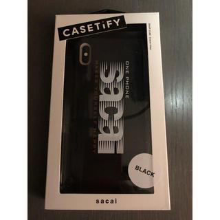 sacai - sacai casetify iphoneケース 黒