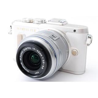 OLYMPUS - ★自撮り&Wi-Fi★OLYMPUS PEN E-PL8 ホワイト レンズ