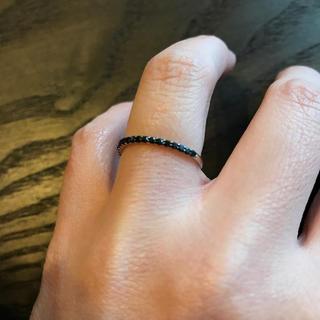 ブラックダイヤ リング 9号(リング(指輪))