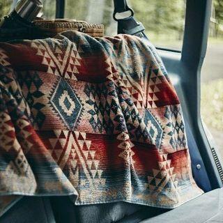 ペンドルトン(PENDLETON)の新品 ペンドルトン ブランケット ブランド バスタオル ラグ 大判 ストール 赤(毛布)