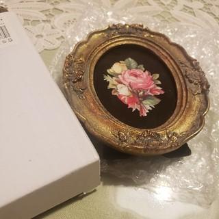 アンティークフォトフレーム 壁掛け フラワー 花(フォトフレーム)