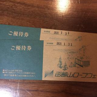 函館山ロープウェイ ペア 往復券(その他)