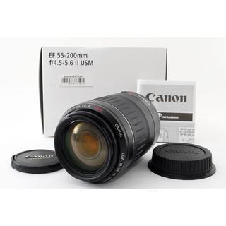 キヤノン(Canon)の★美品★望遠レンズ★Canon EF 55-200mm USM(レンズ(ズーム))