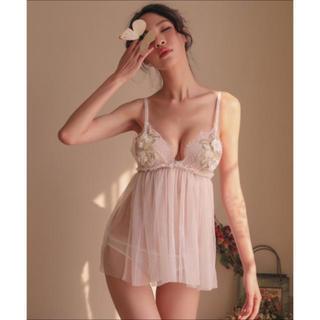 胸のお花刺繍が素敵♡ベビードール コスプレ ランジェリー   セクシー