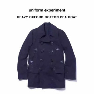 ユニフォームエクスペリメント(uniform experiment)の【ユニフォームエクスペリメント】お洒落なペンキ加工 ジャケット アウターPコート(ピーコート)