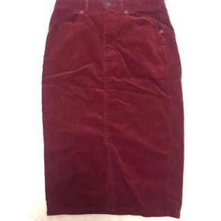 ジーユー(GU)のGU スウェード生地タイトスカート(ひざ丈スカート)