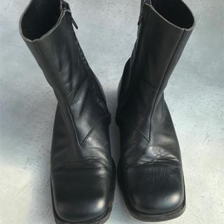 Maison Martin Margiela - マルジェラ初期スクエアトゥブーツ黒ブラック40アーティザナル  ライダース革靴