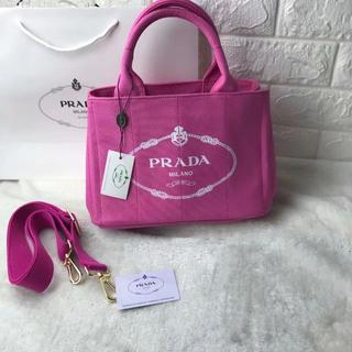 PRADA - レディース カナパ ピンク ハンドバッグ