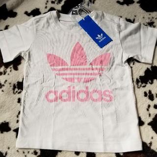 adidas - adidasアディダスオリジナルス 90cm 定番ロゴTシャツ 白×ピンク