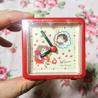 水森亜土 ミニ卓上時計 (置時計)