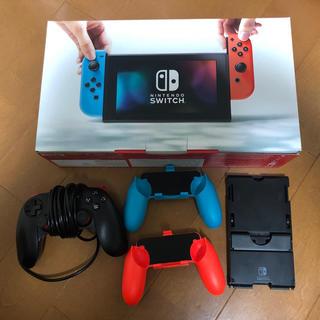 ニンテンドースイッチ(Nintendo Switch)の[送料込]Nintendo Switch 任天堂スイッチ コントローラーおまけ(家庭用ゲーム本体)