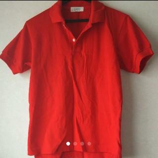 かなり値下げ!トップスメンズ レディース 半袖 ポロシャツ 赤色 レッド M(ポロシャツ)