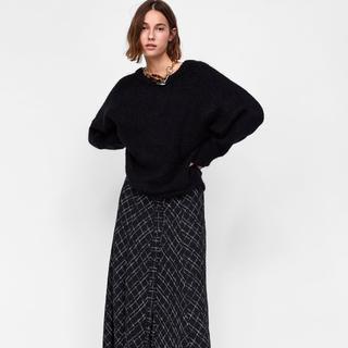 ザラ(ZARA)のザラ★チェック柄スカート xs(ロングスカート)