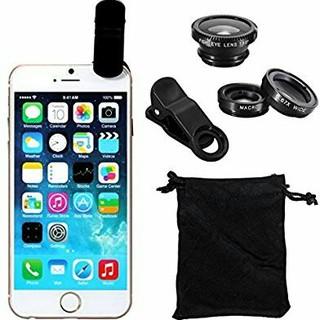 iPhone・各種スマートフォン対応 魚眼 広角 マクロ 3in1レンズ