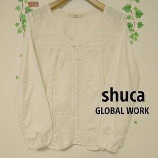 シュカ(shuca)のshucaシュカ☆白ブラウス(シャツ/ブラウス(長袖/七分))