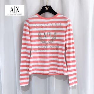 アルマーニエクスチェンジ(ARMANI EXCHANGE)のアルマーニ AX ◆ ロゴ ボーダー 長袖 Tシャツ ロンT(Tシャツ(長袖/七分))