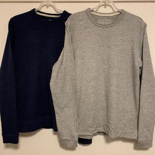 MUJI (無印良品) - 無印良品 オーガニックコットン甘撚り長袖Tシャツ クルーネック 2枚セット M