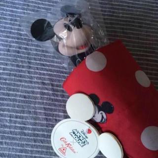 キャスキッドソン(Cath Kidston)のキャスキッドソン 新品 ディズニー ミッキー ハンドル 折りたたみ 傘(傘)