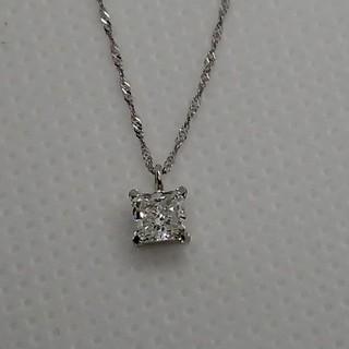 Fカラーpt900 850  0.408ct一粒ダイヤネックレス 中央宝石