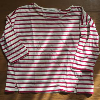 ジーユー(GU)のGU ボーダーシャツ(Tシャツ/カットソー(七分/長袖))