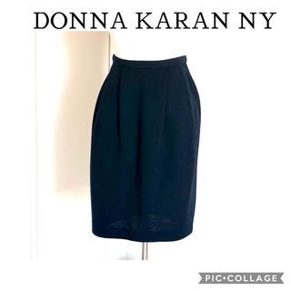 ダナキャラン(Donna Karan)のDONNA KARAN  黒 バルーンタイトスカート(ひざ丈スカート)